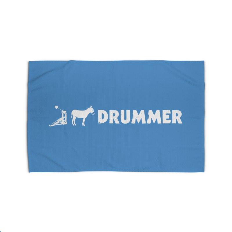 Kick Ass Drummer (White Logo) Home Rug by Drum Geek Online Shop