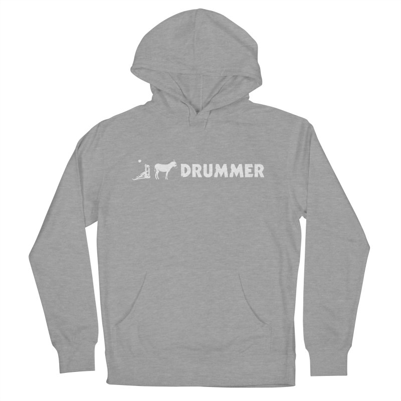 Kick Ass Drummer (White Logo) Women's Pullover Hoody by Drum Geek Online Shop