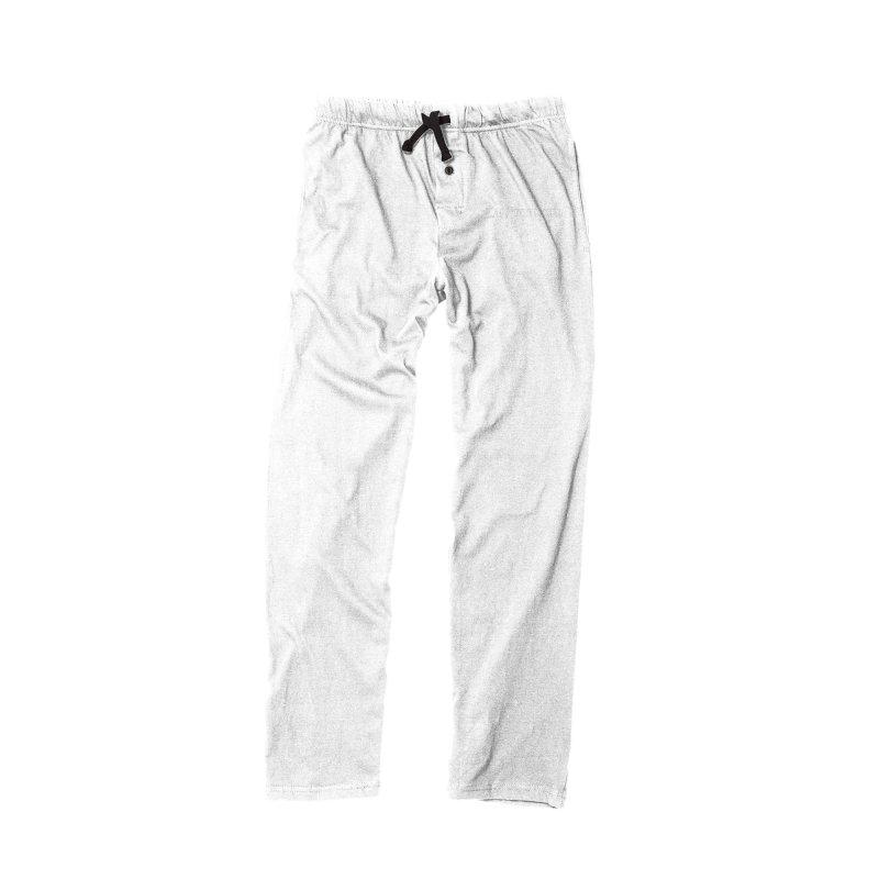 Kick Ass Drummer (White Logo) in Men's Lounge Pants Bottoms Black by Drum Geek Online Shop