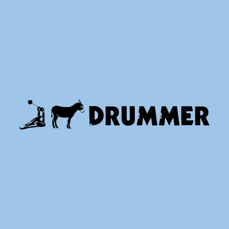 Kick Ass Drummer (Black Logo) Home Throw Pillow by Drum Geek Online Shop