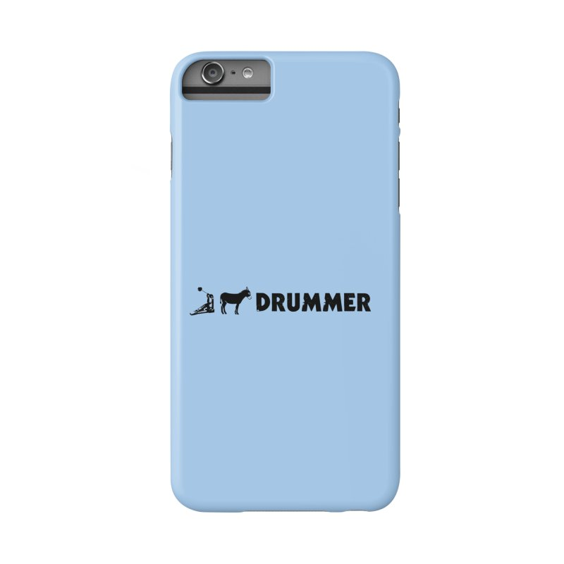 Kick Ass Drummer (Black Logo) Accessories Phone Case by Drum Geek Online Shop