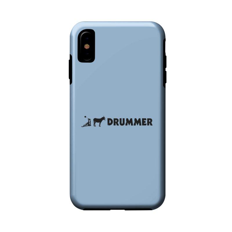 Kick Ass Drummer (Black Logo) Accessories Phone Case by Drum Geek Online Shop