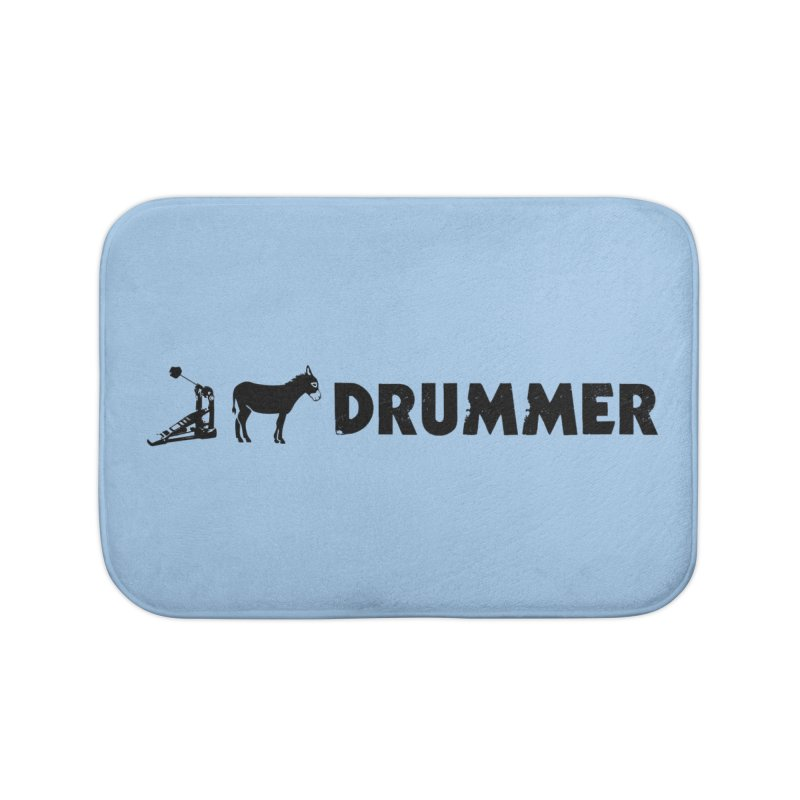 Kick Ass Drummer (Black Logo) Home Bath Mat by Drum Geek Online Shop