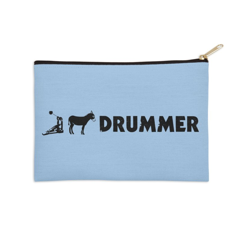Kick Ass Drummer (Black Logo) Accessories Zip Pouch by Drum Geek Online Shop
