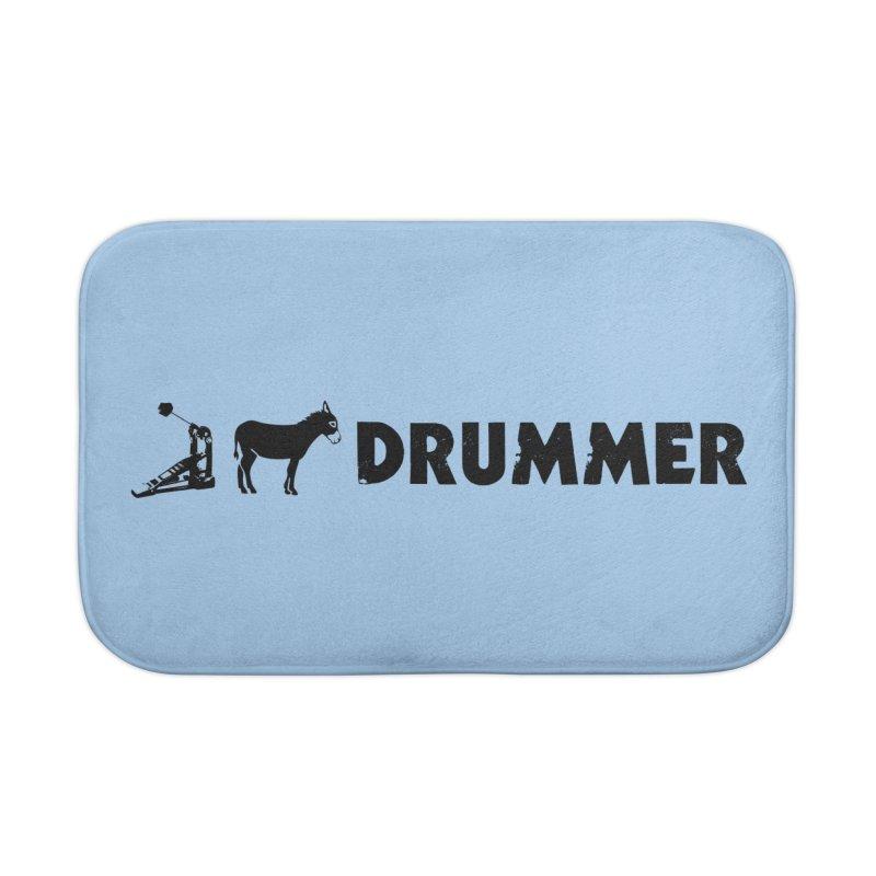 Kick Ass Drummer (Black Logo) Home Bath Mat by Drum Geek Online Shop