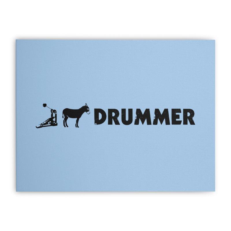 Kick Ass Drummer (Black Logo) Home Stretched Canvas by Drum Geek Online Shop