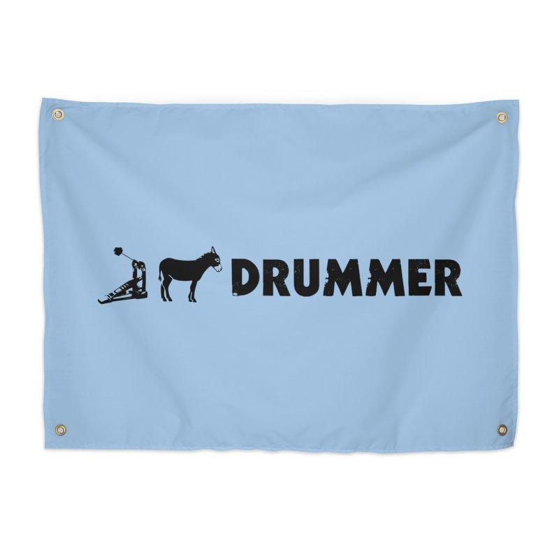 Kick Ass Drummer (Black Logo) Home Tapestry by Drum Geek Online Shop
