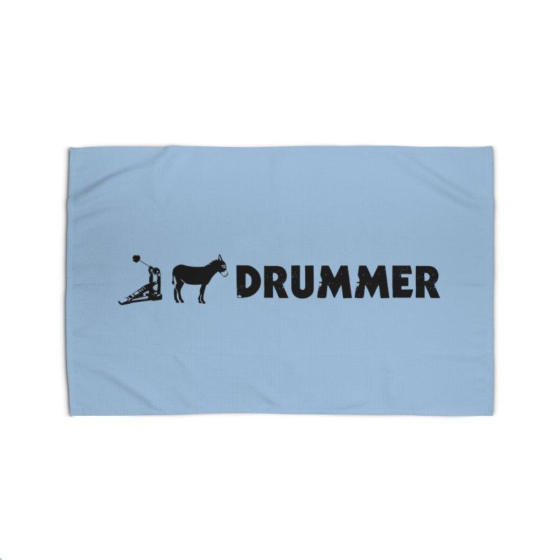 Kick Ass Drummer (Black Logo) Home Rug by Drum Geek Online Shop
