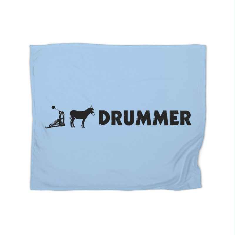 Kick Ass Drummer (Black Logo) Home Blanket by Drum Geek Online Shop