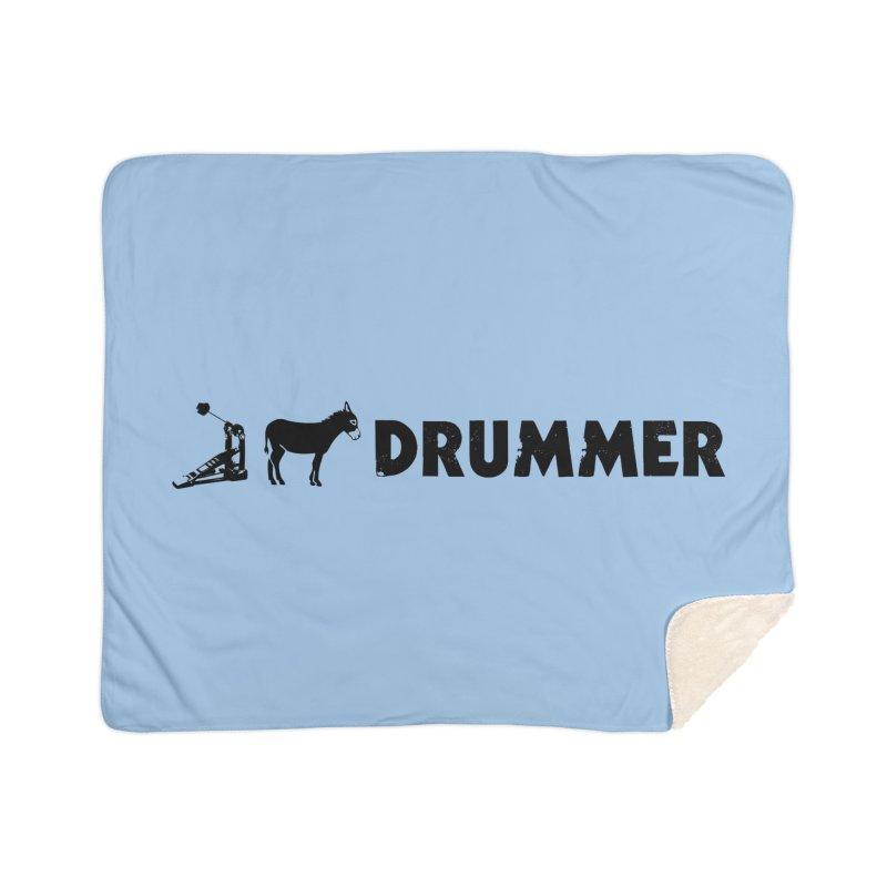Kick Ass Drummer (Black Logo) Home Blanket by Drum Geek Online Shop