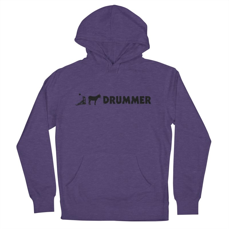 Kick Ass Drummer (Black Logo) Women's Pullover Hoody by Drum Geek Online Shop