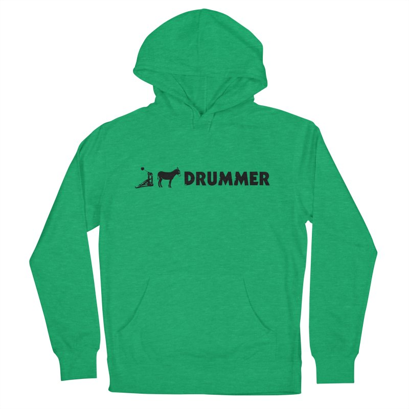 Kick Ass Drummer (Black Logo) Men's Pullover Hoody by Drum Geek Online Shop