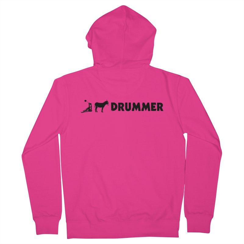 Kick Ass Drummer (Black Logo) Men's Zip-Up Hoody by Drum Geek Online Shop