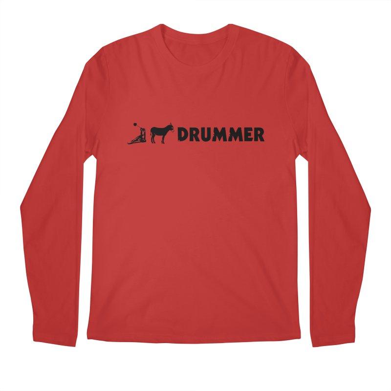 Kick Ass Drummer (Black Logo) Men's Longsleeve T-Shirt by Drum Geek Online Shop