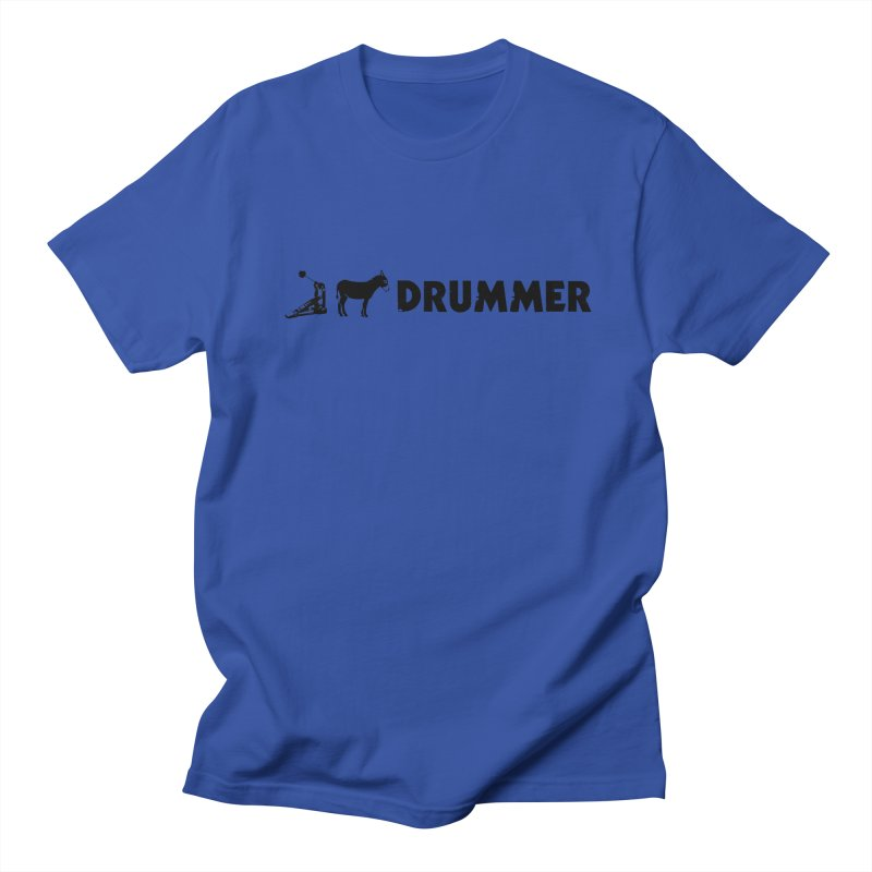 Kick Ass Drummer (Black Logo) Men's T-Shirt by Drum Geek Online Shop