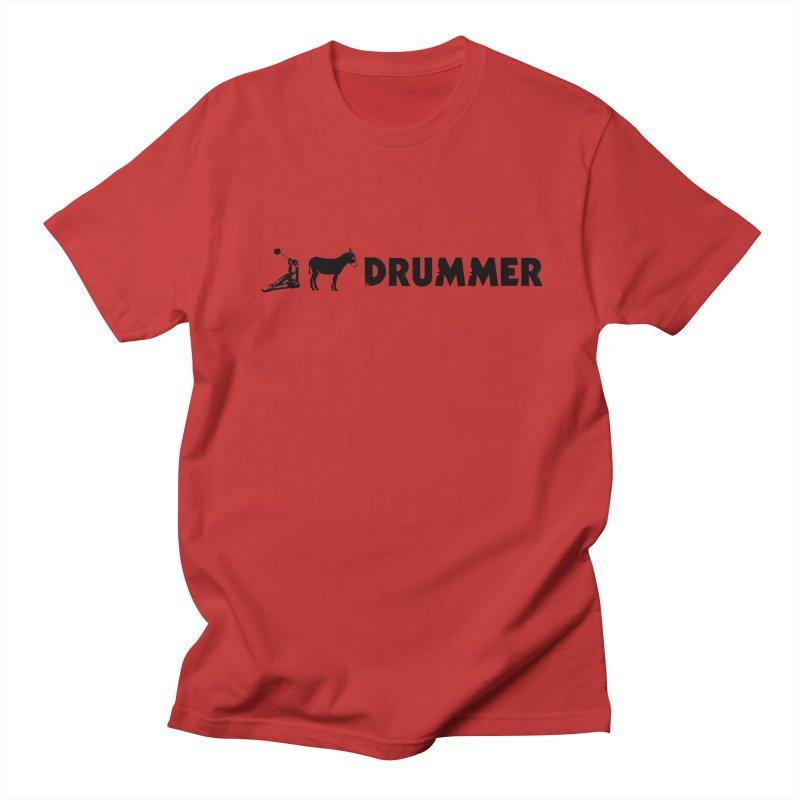 Kick Ass Drummer (Black Logo) Men's T-Shirt by Drum Geek Online Shop
