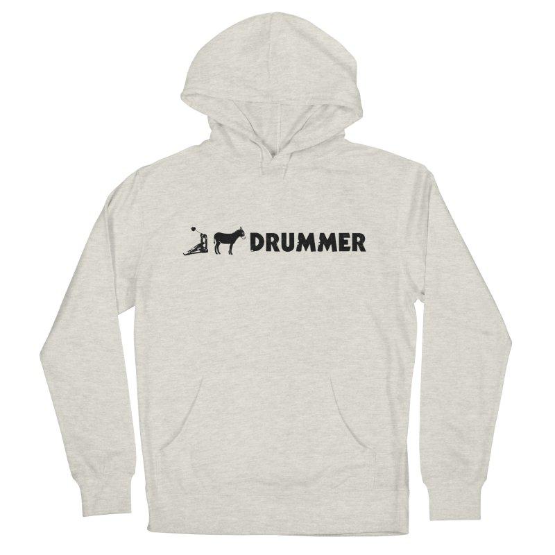 Kick Ass Drummer (Black Logo) Women's Pullover Hoody by Drum Geek Online Shop