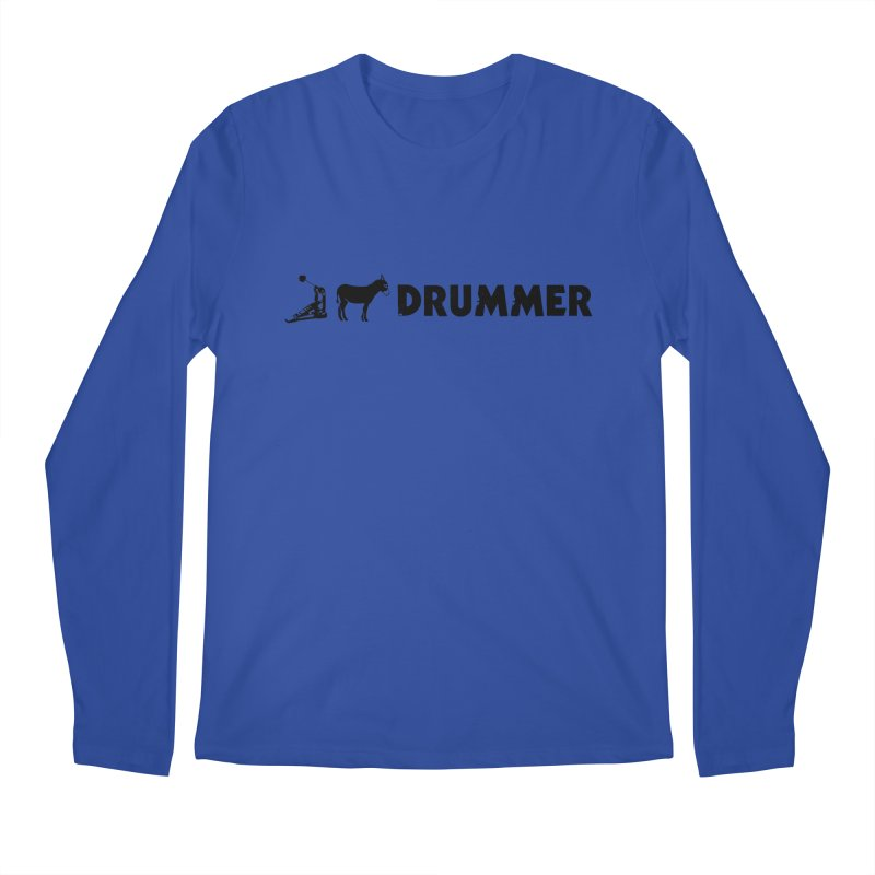 Kick Ass Drummer (Black Logo) Men's Regular Longsleeve T-Shirt by Drum Geek Online Shop