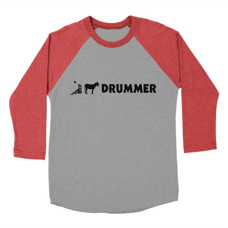 Kick Ass Drummer (Black Logo) Women's Baseball Triblend Longsleeve T-Shirt by Drum Geek Online Shop