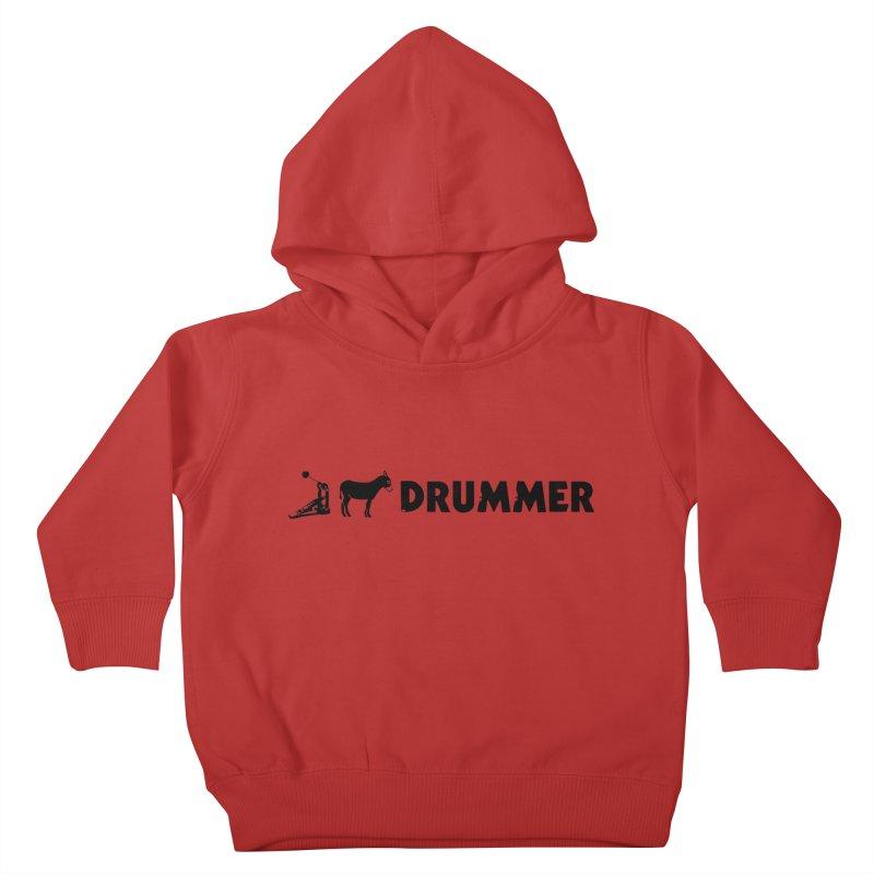 Kick Ass Drummer (Black Logo) Kids Toddler Pullover Hoody by Drum Geek Online Shop
