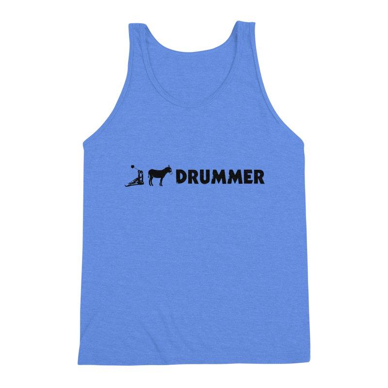Kick Ass Drummer (Black Logo) Men's Tank by Drum Geek Online Shop