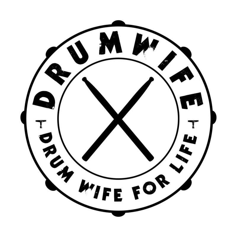 Drum Wife - Black Logo Women's T-Shirt by Drum Geek Online Shop