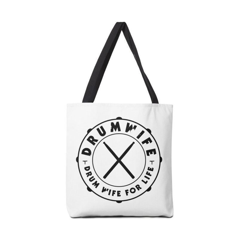 Drum Wife - Black Logo Accessories Tote Bag Bag by Drum Geek Online Shop