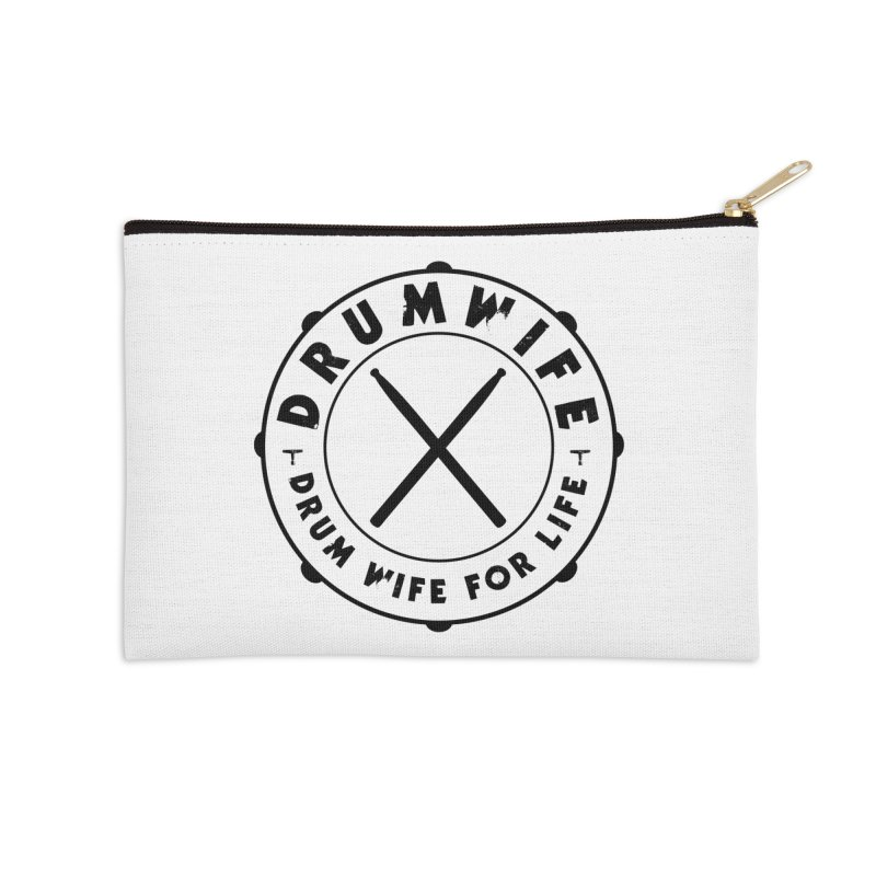 Drum Wife - Black Logo Accessories Zip Pouch by Drum Geek Online Shop