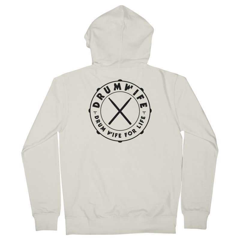 Drum Wife Women's Zip-Up Hoody by Drum Geek Online Shop