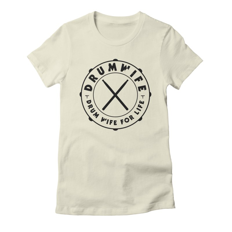 Drum Wife - Black Logo Women's T-Shirt by Drum Geek Online Shop