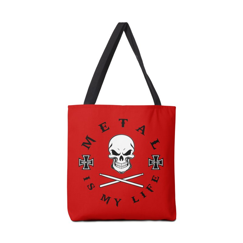 Metal Is My Life (White Skull) Accessories Bag by Drum Geek Online Shop