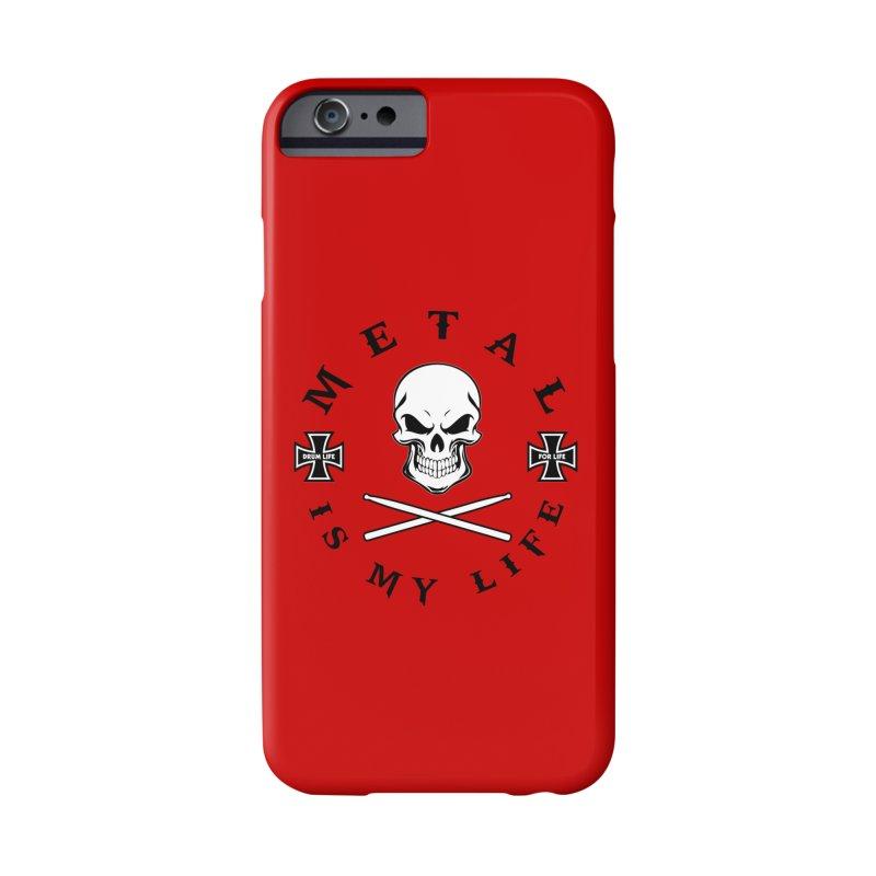 Metal Is My Life (White Skull) Accessories Phone Case by Drum Geek Online Shop