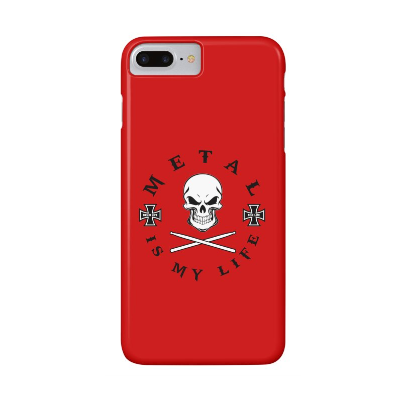 Metal Is My Life (White Skull) Accessories Phone Case by Drum Geek Online Shop