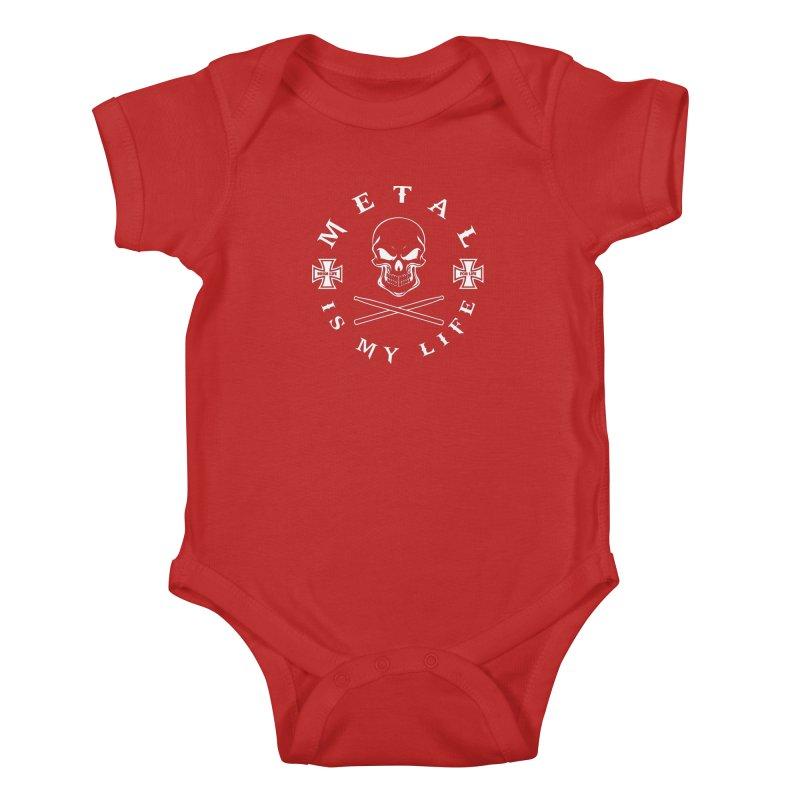 Metal Is My Life (White Transparent) Kids Baby Bodysuit by Drum Geek Online Shop