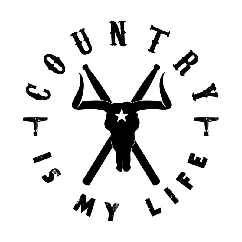 Country Is My Life (Black Logo) Women's Tank by Drum Geek Online Shop
