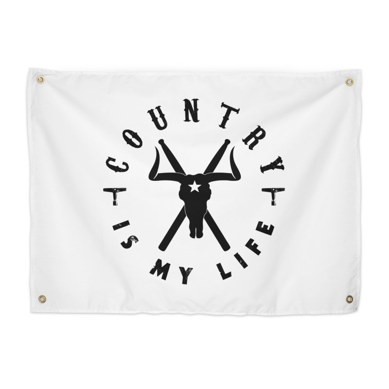 Country Is My Life (Black Logo) Home Tapestry by Drum Geek Online Shop