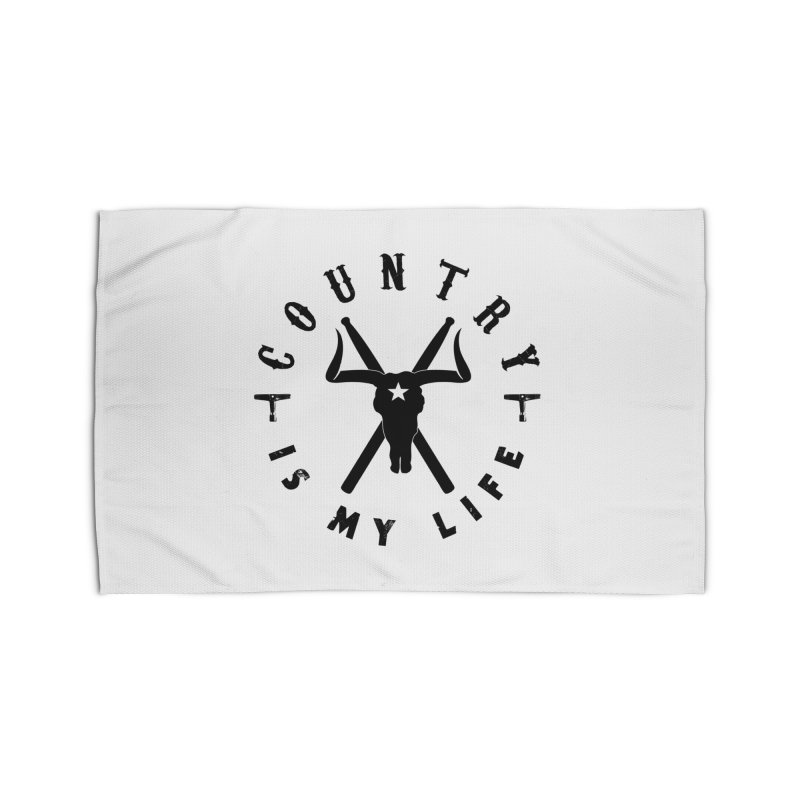 Country Is My Life (Black Logo) Home Rug by Drum Geek Online Shop