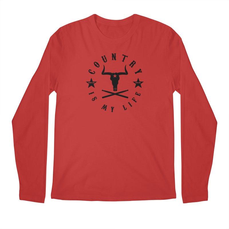 Country Is My Life (Black Logo) Men's Longsleeve T-Shirt by Drum Geek Online Shop