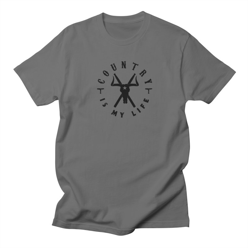 Country Is My Life (Black Logo) Men's T-Shirt by Drum Geek Online Shop