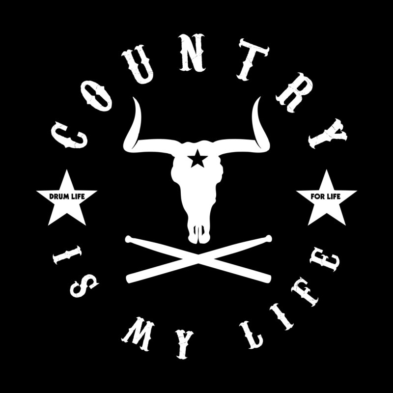 Country Is My Life (White Logo) Women's Scoop Neck by Drum Geek Online Shop
