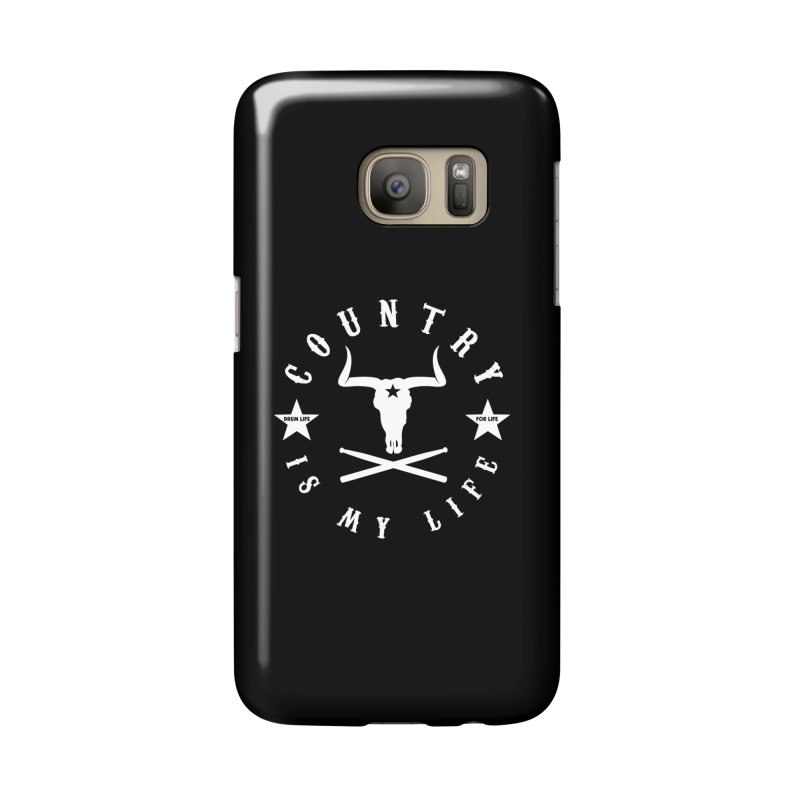 Country Is My Life (White Logo) Accessories Phone Case by Drum Geek Online Shop