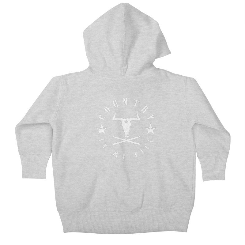 Country Is My Life (White Logo) Kids Baby Zip-Up Hoody by Drum Geek Online Shop