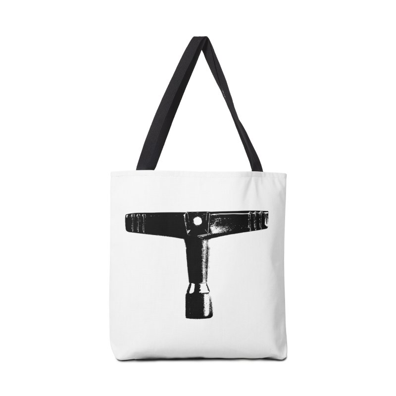 Drum Key - Black Logo Accessories Tote Bag Bag by Drum Geek Online Shop