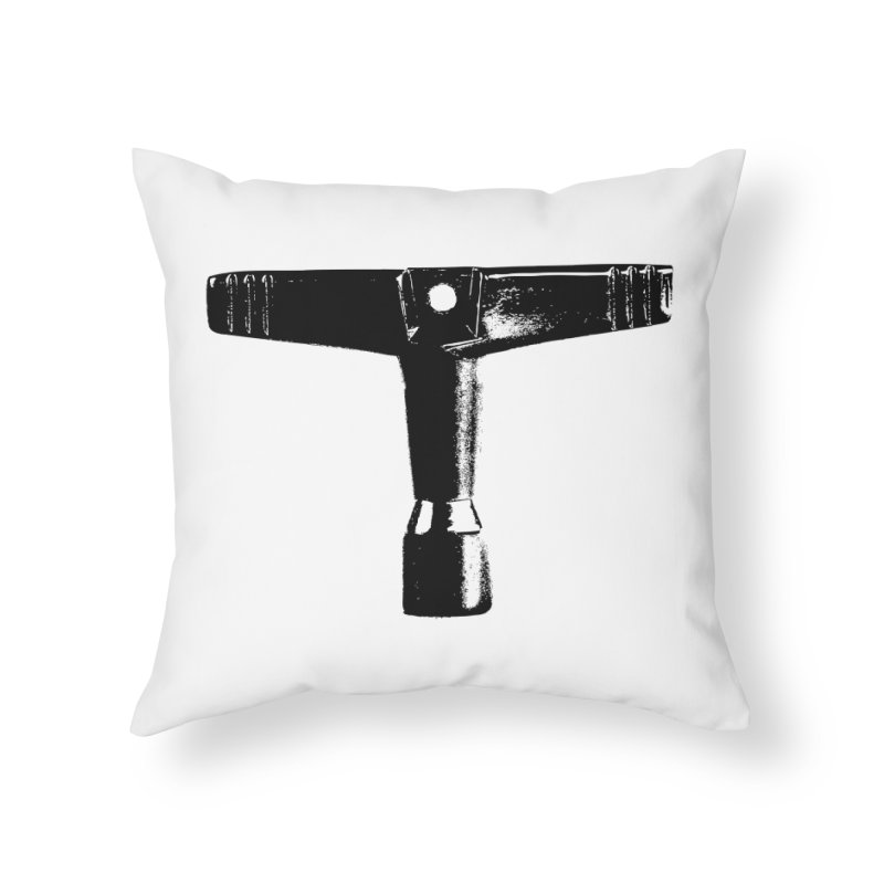 Drum Key (Black Logo) Home Throw Pillow by Drum Geek Online Shop