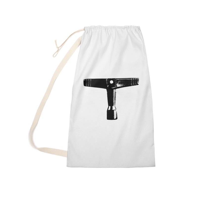 Drum Key - Black Logo Accessories Laundry Bag Bag by Drum Geek Online Shop