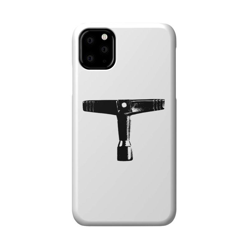 Drum Key - Black Logo Accessories Phone Case by Drum Geek Online Shop