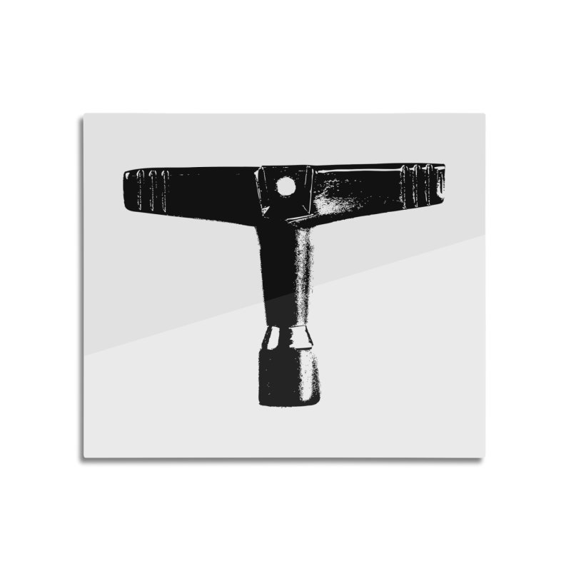 Drum Key - Black Logo Home Mounted Acrylic Print by Drum Geek Online Shop