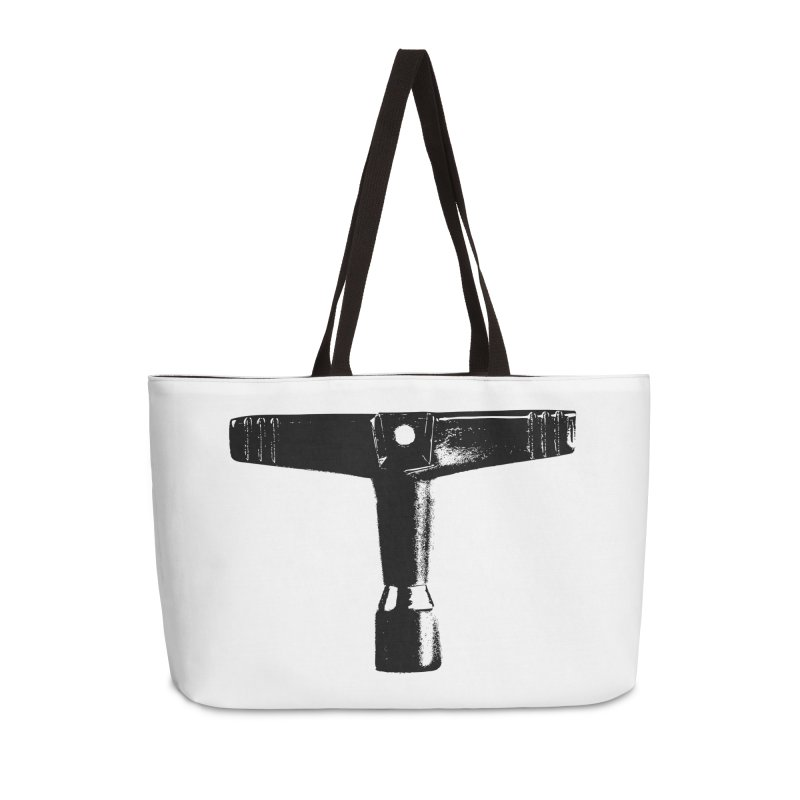 Drum Key - Black Logo Accessories Weekender Bag Bag by Drum Geek Online Shop