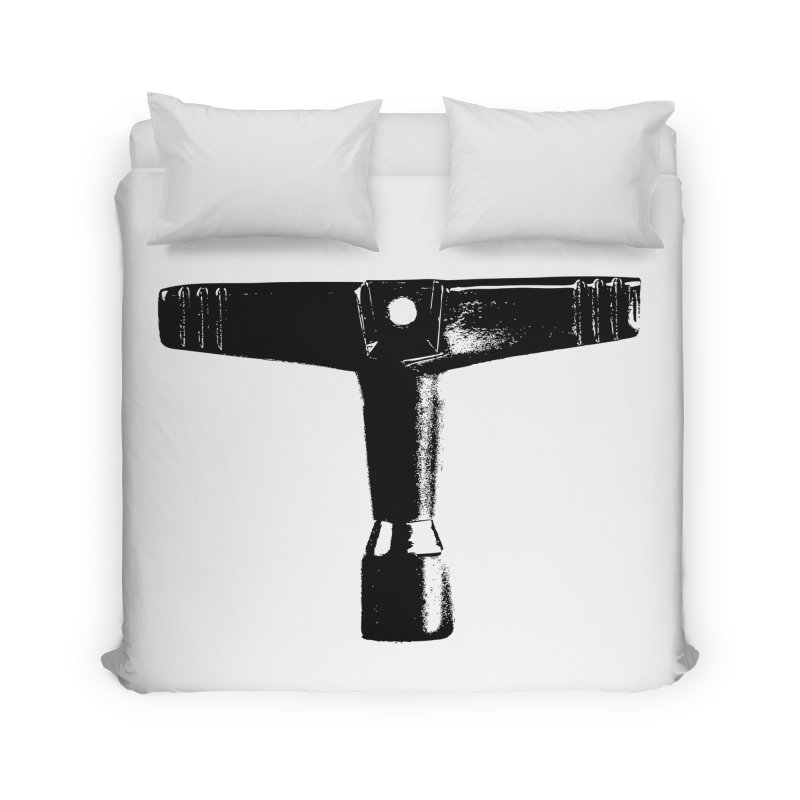 Drum Key - Black Logo Home Duvet by Drum Geek Online Shop