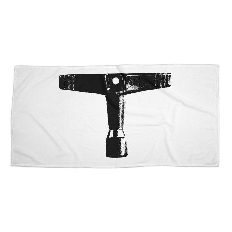 Drum Key (Black Logo) Accessories Beach Towel by Drum Geek Online Shop